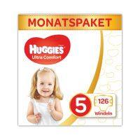 Huggies-Windeln-Ultra-Comfort-Baby-Größe-5-Monatsbox,-1er-Pack-(1-x-126-Stück)