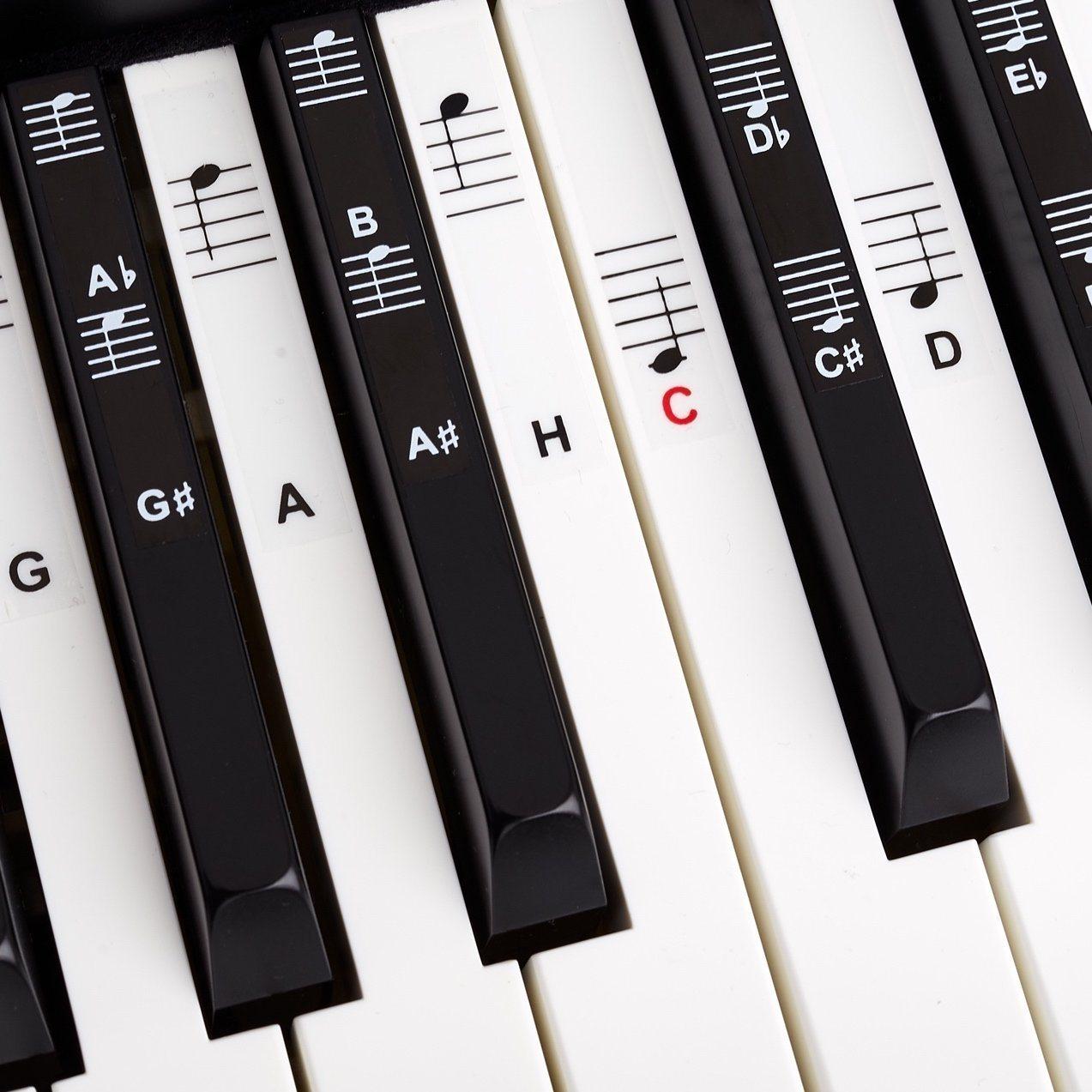 Klavier + Keyboard Noten-Aufkleber