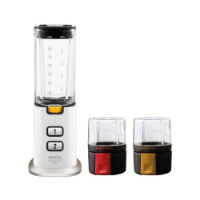 Krups KB3031 Mini-Standmixer Perfect Mix 9000 (300 Watt) weiß / grau / edelstahl gebürstet