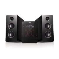 LG CM2760 Kompaktanlage (160 Watt, Bluetooth, USB, MP3) schwarz/rot