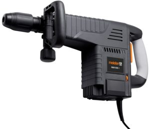 Meister Abbruchhammer 1500 W, MAH1500- Zusatzhandgriff SDS Max Inkl. Flachmeißel & Spitzmeißel - Bohrhammer mit SDS Max Wechselfutter-Aufnahme - Meißelhammer mit Werkzeugkoffer