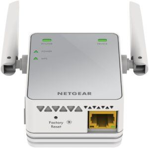 Netgear EX2700-100PES N300 WLAN Repeater (300 Mbit-s, 2,4 GHz, 1x Fast-Ethernet Port, WPA und universell kompatibel mit jedem