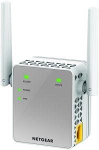 Netgear EX3700-100PES AC750 Universal WLAN Repeater (RJ-45, 750Mbit-s, An-Aus Schalter) Weiß