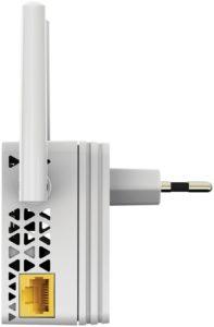 Netgear EX3700-100PES AC750 Universal WLAN Repeater (RJ-45, 750Mbit-s, An-Aus Schalter) Weiß-silber