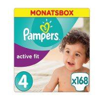 Pampers-Premium-Protection-Active-Fit-Windeln,-Gr.4-Maxi-(8-16-kg),-Monatsbox,-1er-Pack-(1-x-168-Stück)