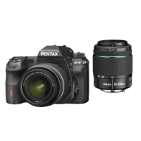 Pentax K-3 SLR-Digitalkamera (24 Megapixel, 8,1 cm (3,2 Zoll) LCD-Display, Live View, Full HD) inkl. DAL18-55-DA50-200WR kit schwarz