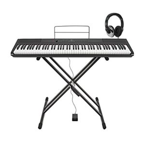 SDP-2 Stage-Piano by Gear4music with stand pedal and headphones