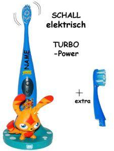 Schallzahnbürste - incl. Name - Zahnbürstenhalter & extra Bürstenkopf