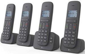 Sinus 40318195 CA 37 Quattro Schnurlostelefon (Dot-Matrix-Display, Anrufbeantworter) anthrazit