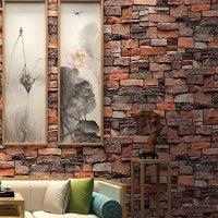 Starsglowing Retro Wandtapete 3D Steintapete Fototapete für Schlafzimmer Wohnzimmer Cafe Bar