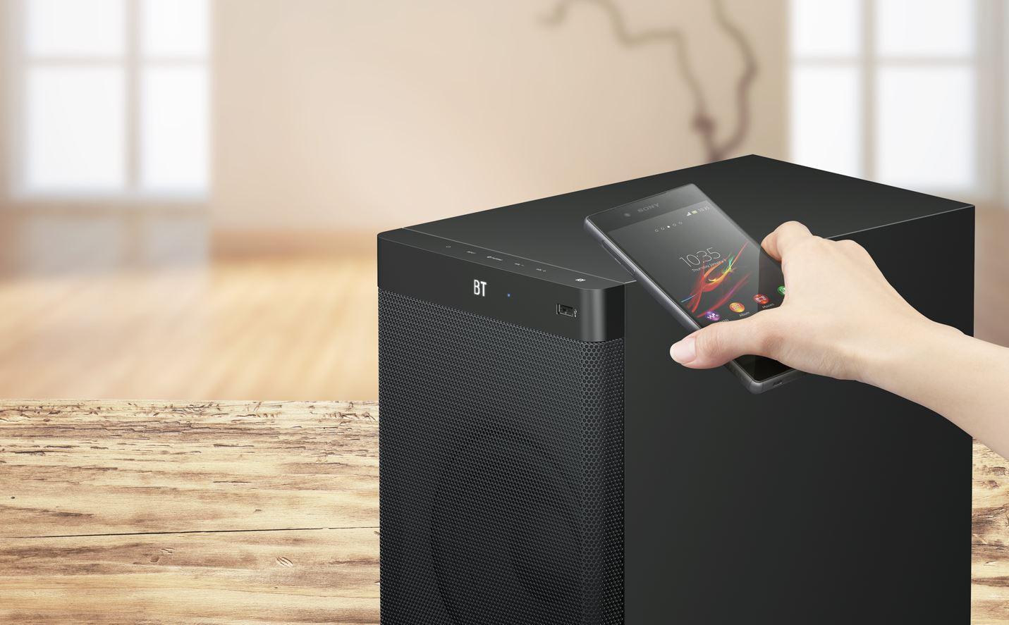 Streamen Sie Ihre Lieblingsmusik. NFC und Bluetooth