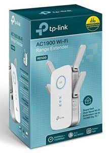TP-Link AC1900 Gigabit Dualband WLAN Repeater RE500 (1300 Mbit - s (5 GHz) +600 Mbit - s (2,4 GHz), AP Modus, 3x3-MU-MIMO, 1 Gigabit Port, WPS
