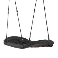 WICKEY-Nestschaukel-Sampa-Mehrkindschaukel-aus-wasserabweisendem-Material,-167x71cm,-schwarz