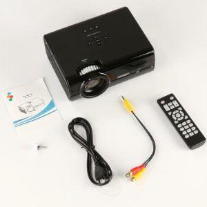 1080P U45 1600 LumenMultimedia Mini Beweglicher HD LED Projektor Mikro Heimkino Projektor (black)