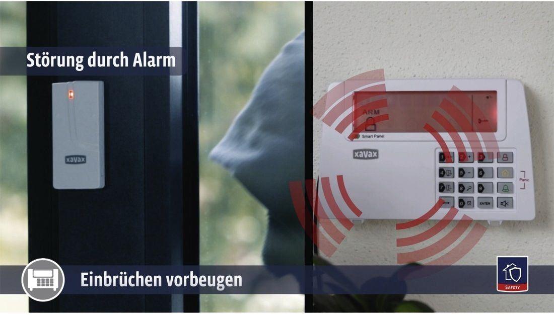 Xavax Bewegungssensor für Funk Alarmanlage FeelSafe, als Ersatz oder zur Erweit