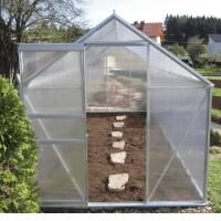 2,5 - 6,06m² ALU Aluminium Gewächshaus Glashaus Tomatenhaus, 6mm Hohlkammerstegplatten - (Platten MADE IN AUSTRIA/EU) inkl. Fenster mit autom. Fensteröffner von AS-S, Größe:2.5m²