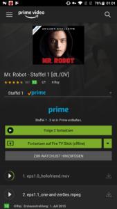 Amazon Prime Video Mr Robot