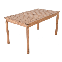 Ambientehome Gartentisch Tisch Massivholz Esstisch EVJE, braun, ca. 135 x 77cm