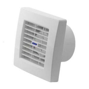 Badlüfter mit Jalousie Ventilator Raumentlüfter Lüfter Einbaulüfter 100 mm Weiß