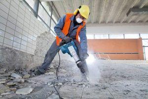 Boden bearbeiten mit Bosch Professional GSH 11 VC Abbruchhammer im Test