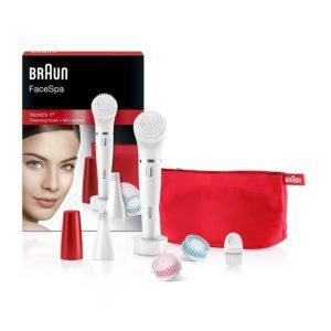 Braun 852 Ruby Edition Face Bürste für die Reinigung des Gesichts und Epilierer