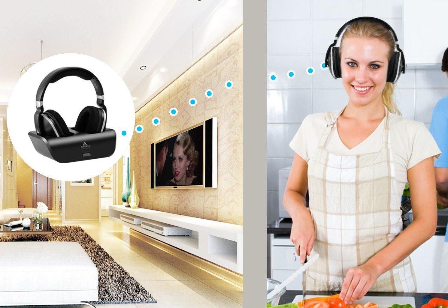 Digitales Wireless Kopfhörer 2.4GHz Übertragungsfrequenz Over Ear Funkkopfhörer mit Ladestation Test