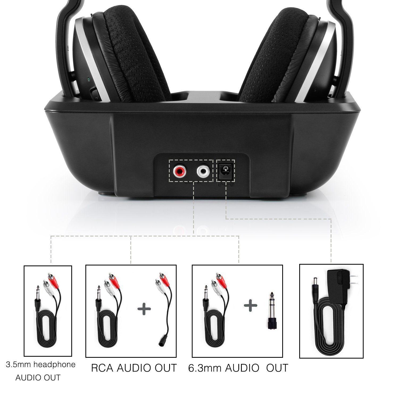 Digitales Wireless Kopfhörer 2.4GHz Übertragungsfrequenz Over Ear Funkkopfhörer mit Ladestation im test