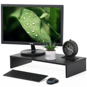Fitueyes Monitor Ständer aus Holz 54x25,4x10cm schwarz DT105401WB