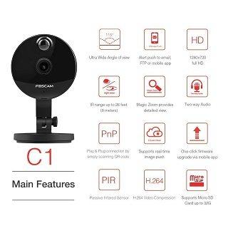 Die Foscam C1 Überwachungskamera Einstellungen im Test