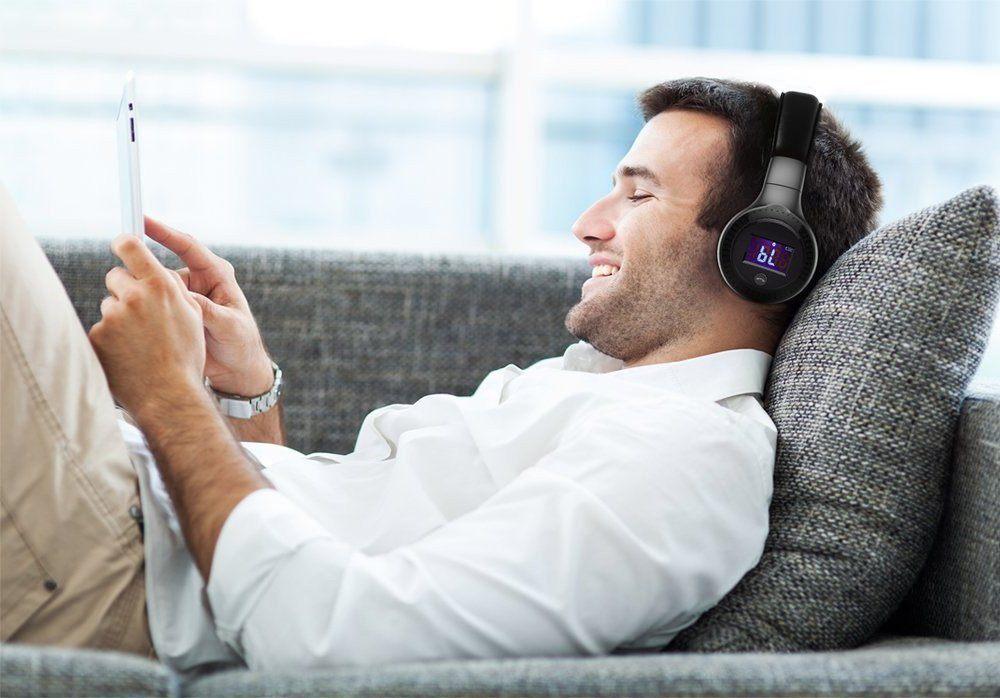 Funk Kopfhörer , MENGGOOD Bluetooth HiFi Stereo Headset Drahtlose Faltbar Einstellbar test