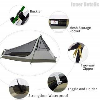 Das Bivvy 1 Person Zelt hat sich sehr gut im Test gezeigt