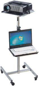 General Office Beamertisch Variabler Profi-Projektor-Wagen mit 2 Ablage-Ebenen (Projektorwägen)