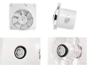 Hon&Guan Ø150 mm Badlüfter Ultra-leise mit Effiziente Lüftung ,Ultra-dünner Abluftventilator für Küche Badezimmer Schlafzimmer Büro