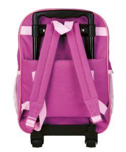 Idena 2 in 1 Kinder Rucksack Trolley Prinzessin mit Frosch Kindergepäck, 14 Liter, Rosa test