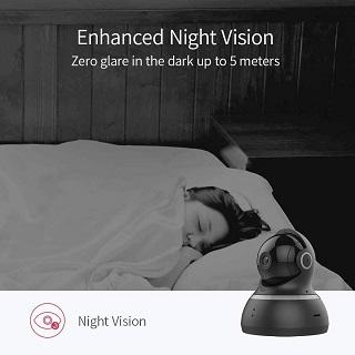 Die KAMTRON Wlan IP Überwachungskamera 720P HD Benutzung in der Nacht im Test