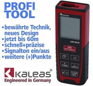 Präzisions-Laser-Messgerät von Kaleas für Abstände bis 60m, Flächen und Volumen im Test