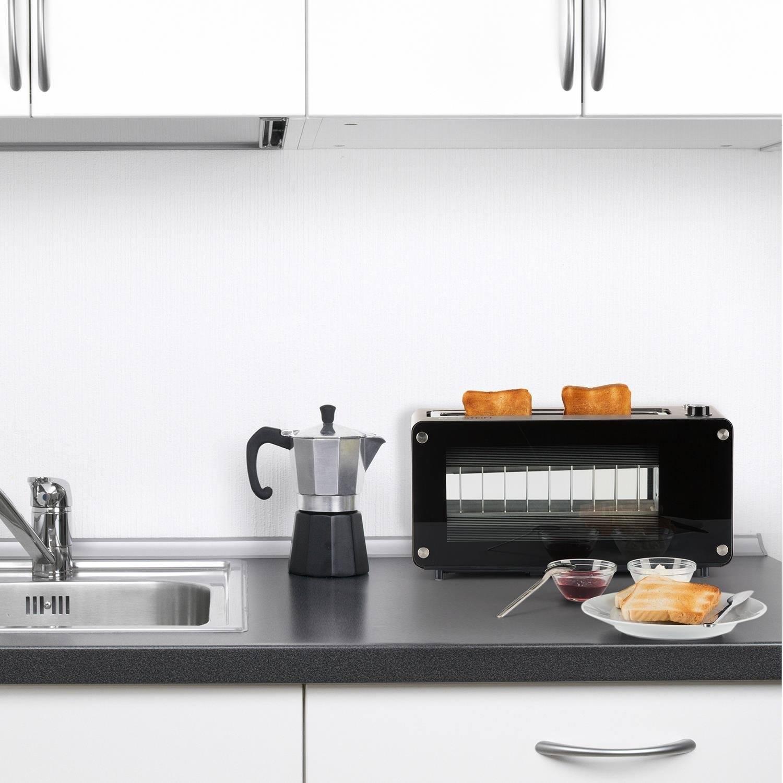 Klarstein Canyon • Toaster • 2-Scheiben-Toaster • Langschlitz-Toaster • Sichtfenster aus Glas • Auftau-Funktion • Aufwärm-Funktion • 7-stufige Bräunungsgradeinstellung • 1200 Watt • silber test