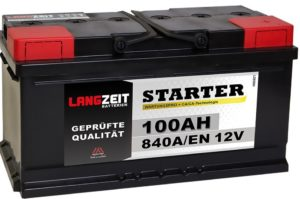 LANGZEIT Autobatterie 12V 100AH ersetzt 88Ah 90Ah 92Ah 95Ah 100Ah