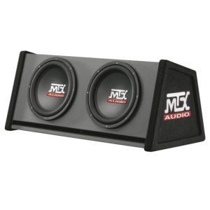 MTX Box Reflex Road Thunder mtxrte12 X 2DV, 2 x 12, 700 W RMS, Schwarz