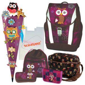 Olivia the Owl Eule Schulranzen Set 8tlg. TOOLBAG SOFT Schneiders u. passende Federtasche Sporttasche Schultüte Schmuckaufsatz-Set - 78405-0513