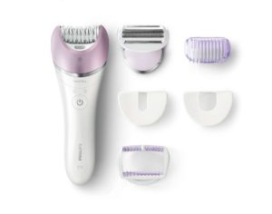 Philips BRE630-00 Satinelle Advanced Wet und Dry Epilierer, lila