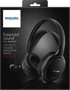 Philips SHC5200-10 kabelloser HiFi Kopfhörer schwarz