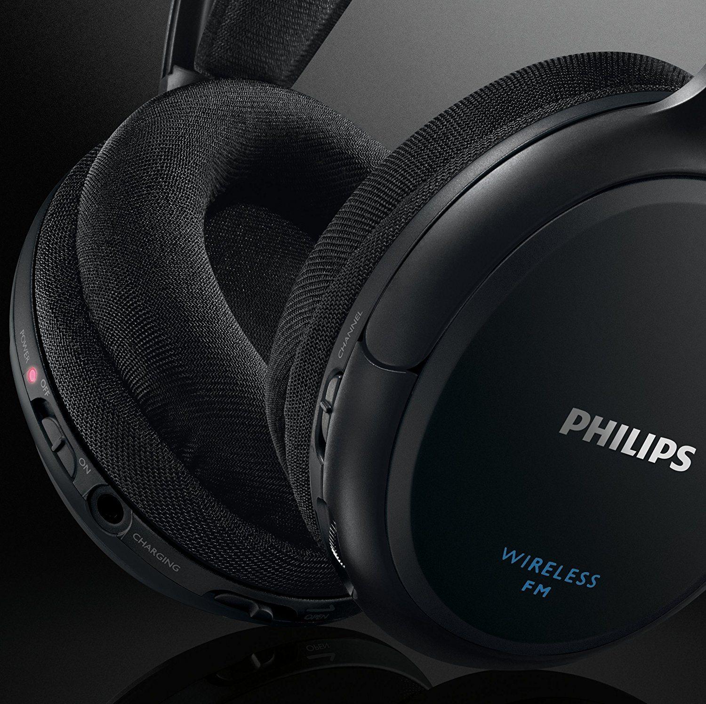 Philips SHC520010 kabelloser HiFi Kopfhörer schwarz test