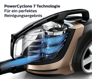 PowerCyclone 7 Technologie von Philips Staubsauger PowerPro Ultimate im Test