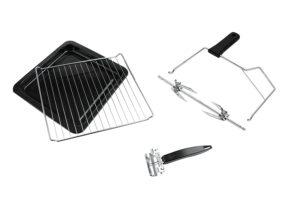 ROMMELSBACHER BG 1550 Minibackofen mit Umluft und Drehspieß Lieferumfang