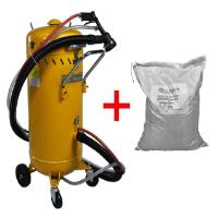 Sandstrahlgerät für Außen, Kugelstrahlen mit Staubabsaugung und Recycling
