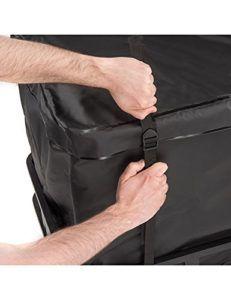Schwarz und Wasserdicht Dachbox Auto Hintere Gepäcktasche für Auto von Vault Cargo Management - 425 Liter Kapazität - Gepäckbox Dach - Perfekte Dach boxen für das Reisen mit Ausrüstung