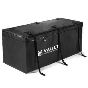 Schwarz und Wasserdicht Dachbox Auto Hintere Gepäcktasche für Auto von Vault Cargo Management - 425 Liter Kapazität - Gepäckbox Dach - Perfekte Dach boxen für das Reisen mit Ausrüstung - Haltbarer