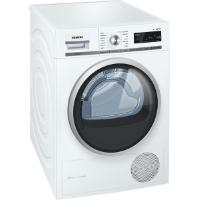 Siemens WT47W5W0 iQ700 Wärmepumpentrockner / A+++ / 8 kg / Großes Display mit Endezeitvorwahl / weiß [Energieklasse A+++]