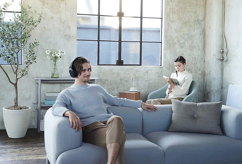 Sony MDR-RF895RK kabellose Kopfhörer (bis zu 100 Meter Reichweite, Geräuschminimierungssystem, 40-mm-Treiber, automatische Frequenzsuche, bis zu 20 Stunden Akkulaufzeit)